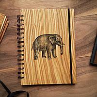 "Деревянный блокнот ""Слон"" А6 (бумага 105х148 мм), фото 1"
