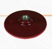 """Диск опорный для самозакрепляемых кружков """"липучка"""" 125 мм """"Omega"""" + шпиндель для дрели"""