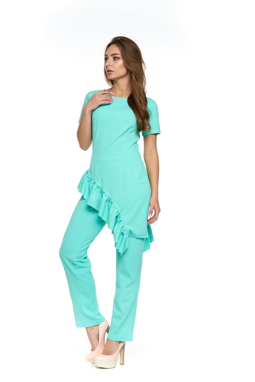 001d363c367 Летний брючный костюм Рохалес бирюзовый - DS Moda - женская одежда оптом от  производителя в Харькове