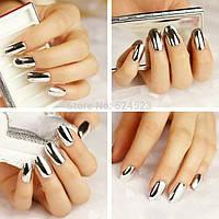 Термо фольга для нігтів срібло