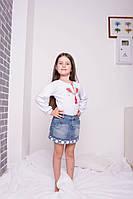 Детская вышиванка девочкам  р.98. Хлопок -интерлок.0735инб. В наличии 98,104,110,116 Рост