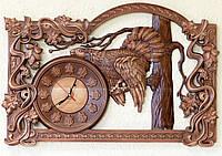 Резные Часы - Глухарь на Ветке 720х480