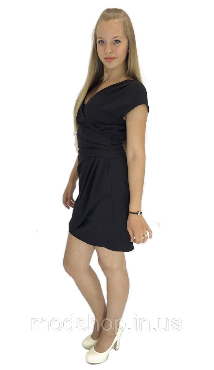 Летнее черное короткое платье