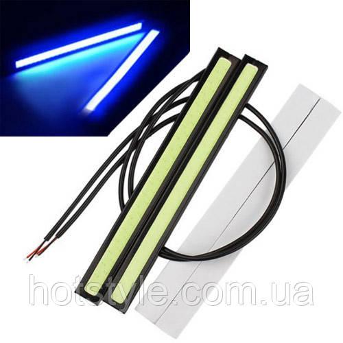 Дневные ходовые огни, 2x6 Вт, DRL LED короткие 14см, голубые