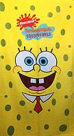 Полотенце пляжное махра-велюр 75х150 Sponge Bob