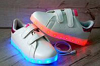 Кроссовки с подсветкой для девочек, рр 33,35