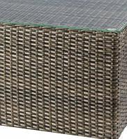 Стеклянная столешница с каленного стекла для журнального стола 1000x1000 Kombo