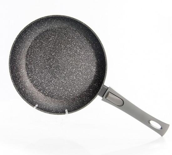 """Сковорода """"Rock Stone"""" 26х5.2см с индукционным дном алюминиевая с каменным антипригарным покрытием Fissman"""