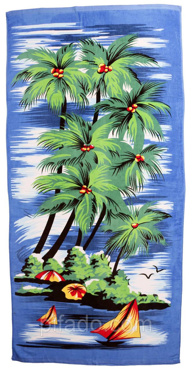 Пляжний рушник Пальма (велюр-махра) 70х140. Код 1615-207