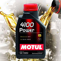 Моторное масло Motul 4100 Power 15W-50 (1л)