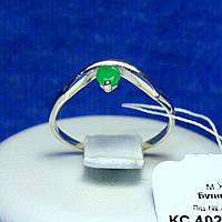 Серебряное кольцо с зеленым камнем кс 402из