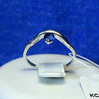 Серебряное кольцо с синим цирконием кс 402сап