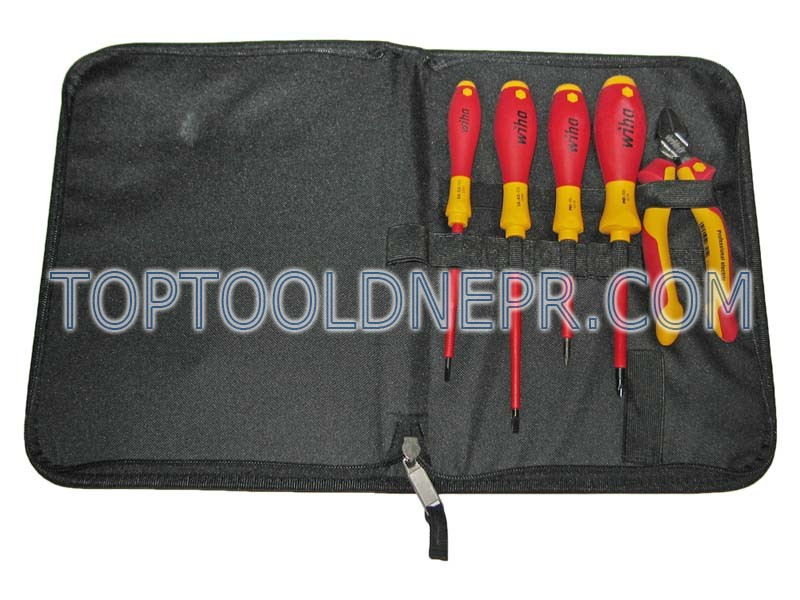Набор инструментов   Wiha  W37113  отв SL4 (5*125), SL3(3.5*100), PH1*80, PH2*100, бокорезы 160 мм