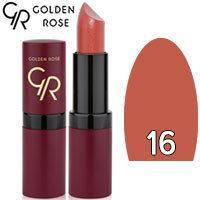 Губная помада матовая Golden Rose Velvet Matte Lipstick Тон 16 Caramel Natural