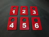Гардеробный номерок красный, фото 1
