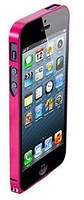 "Бампер для iPhone 5/5S ""Ultra-thin"" 0.7mm, алюминиевый (розовый)"