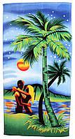 Пляжное полотенце Пальма (велюр-махра) 70х140. 1615-1844