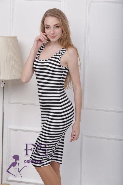 5ea2f77b086 Женское летнее платье тельняшка удлиненное.: продажа, цена в ...