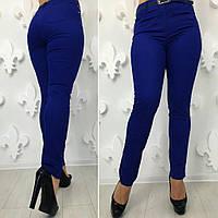 """Женские стильные брюки стрейч в больших размерах 184 """"Джинс Цвет"""" в расцветках"""