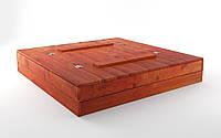 Детская песочница со скамейкой 120*120 +формочки