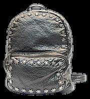 Женский рюкзак из искусственной кожи черного цвета RMO-005890, фото 1