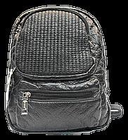 Интересный женский рюкзак из искусственной кожи черного цвета RMO-005895