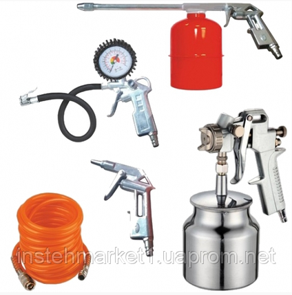 Набор пневмоинструментов Werk KIT-5SN (NEW) в наборе 5 предметов, фото 2