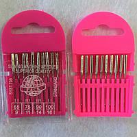 Набор игл для швейных машин №65, №75, №90, №100, 10 шт в упаковке