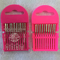 Набор игл для швейных машин №65, №75, №90, №100, 10 шт в упаковке, фото 1