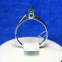 Серебряное кольцо с изумрудным цирконом 1193из