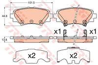 Колодки тормозные задние Mazda 3 BM TRW