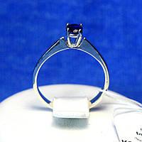 Серебряное кольцо с синим фианитом кс 1193сап, фото 1