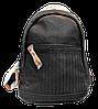 Женский рюкзак черного цвета из экокожи LGO-001131