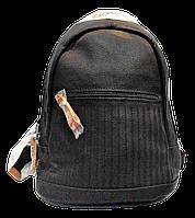 Женский рюкзак черного цвета из экокожи LGO-001131, фото 1