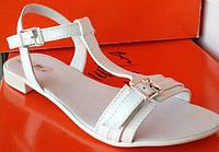 Босоножки женские кожаные на плоской подошве, летние босоножки от производителя модель ЛА31
