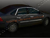 Верхние молдинги стекол Omsa на Ford Focus 2004-2011 седан