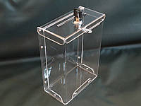 Коробка из оргстекла для пожертвований 210*150*80 А5 формат, фото 1