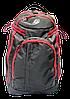 Удобный рюкзак сумка на колесах красно-черного цвета PPP-000667