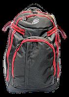 Удобный рюкзак сумка на колесах красно-черного цвета PPP-000667, фото 1