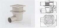 Трап регулируемый горизонтальный 50мм с пластиковой решёткой 10см