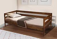 Кровать SKY-3 (ольха) 800х1900 беленый дуб (масло-воск Osmo, Германия)