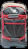 Надёжный чемодан на колесах красно-черного цвета большой PEE-000675