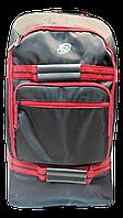 Надёжный чемодан на колесах красно-черного цвета PEE-000621