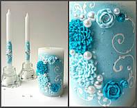 Набор свадебных свечей С-716 (бирюзовый)