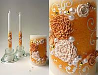 Набор свадебных свечей С-717 (золотой)