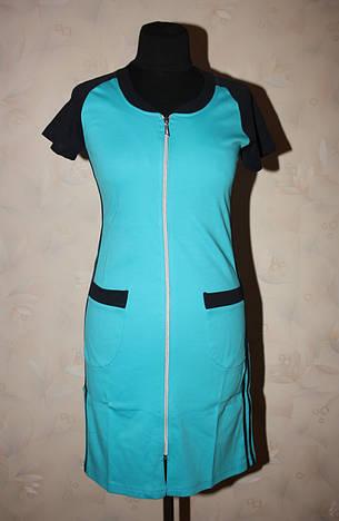 Жіночий літній халат спортивного стилю, фото 2