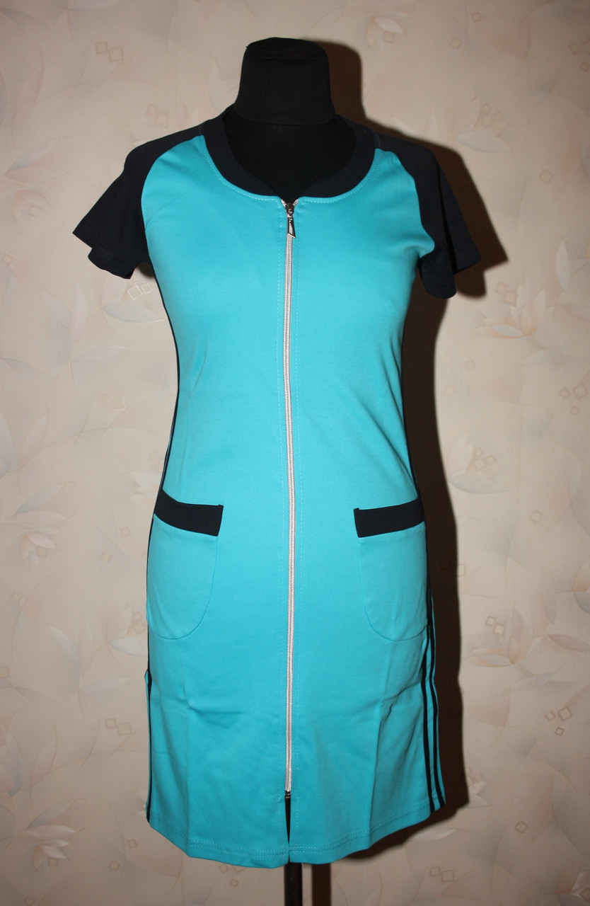 Жіночий літній халат спортивного стилю