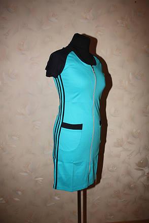 Женский летний халат спортивного стиля, фото 2
