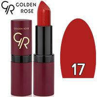 Губная помада матовая Golden Rose Velvet Matte Lipstick Тон 17 Dark red
