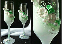 Свадебные бокалы  №2103 (мятный)